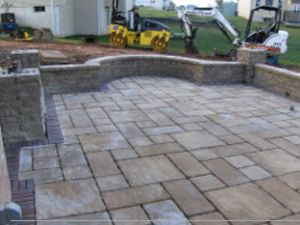 brick patio paver stones